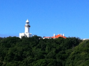 arriving at byron bay light house- fantastic !!