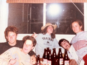 another quite nite at paul family holiday house on the island years ago-sues in front of me