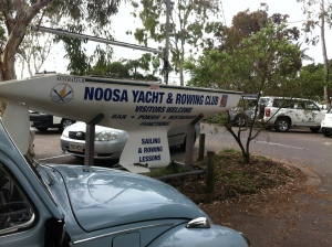 the rocket and myself depart the noosa yacht & rowing club