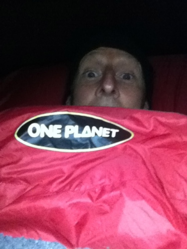 It was very cold at the avondale tavern - lucky I was still on the planet to feel the warmth from my new one planet sleeping bag