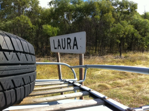 arriving at laura- a town named after my sister