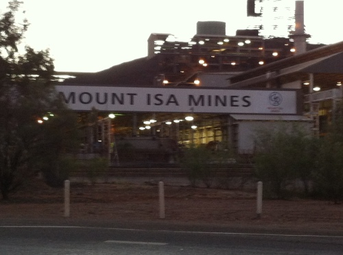 the mine that runs the town