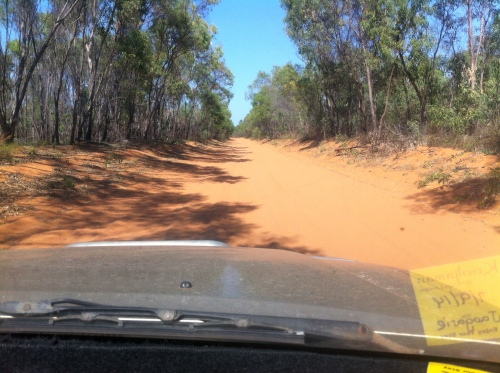 the dusty red track to cape l