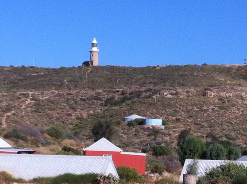 exmounth light house caravan park- amazing- but bloody windy