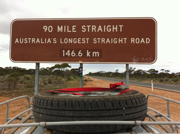 the rocket loves these long straight roads of the nullabour
