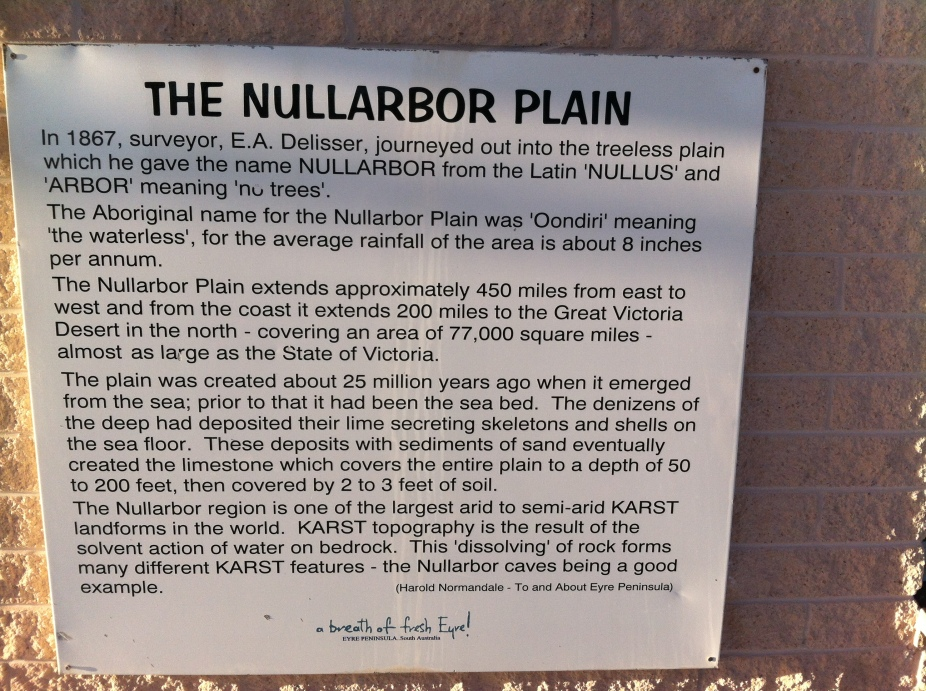 the history behind the nullarbor