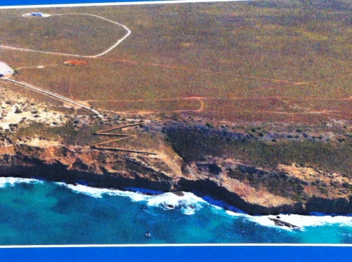 a qucik aerial shot of the cliffs of the bight