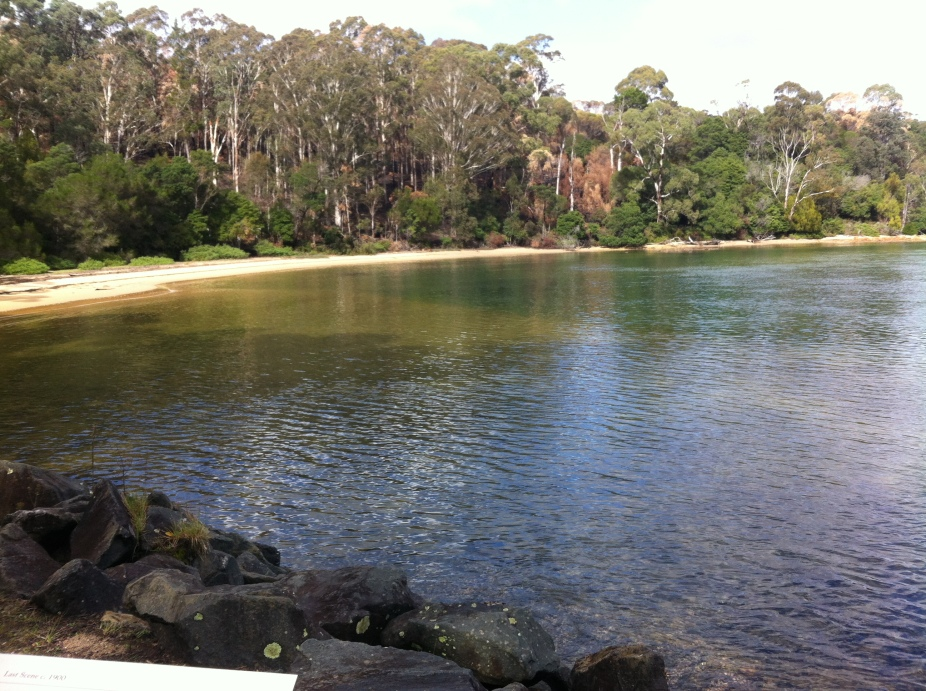 the bay at edrom at twofold bay - home of many whale stories